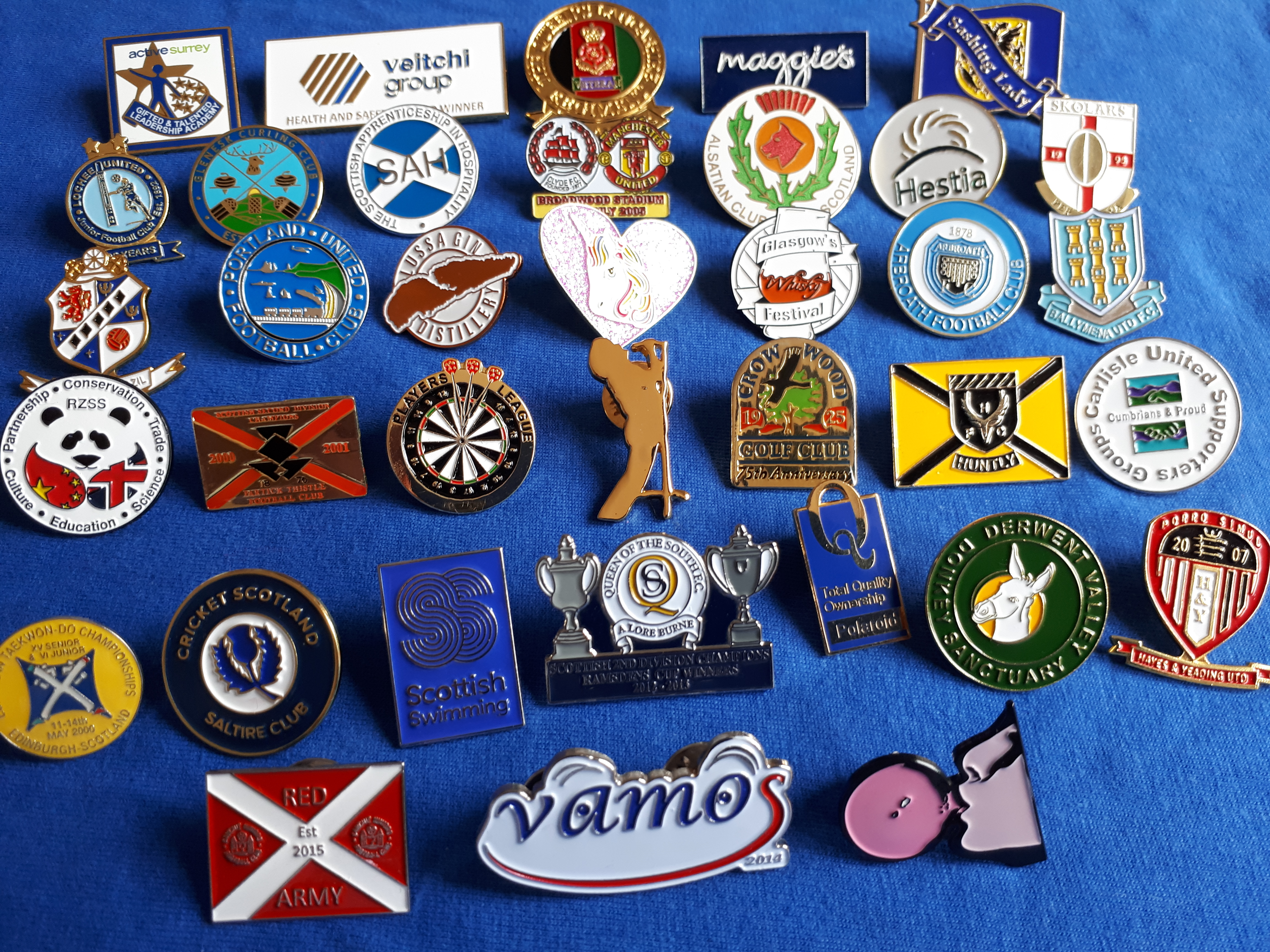 BADGES - UK Supplier of ENAMEL LAPEL PIN BADGES, EMBROIDERED SEW-ON